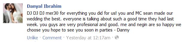 Wedding DJ review