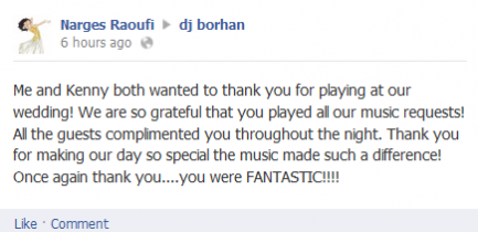 Persian wedding DJ review