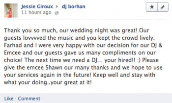 GTA wedding dj review