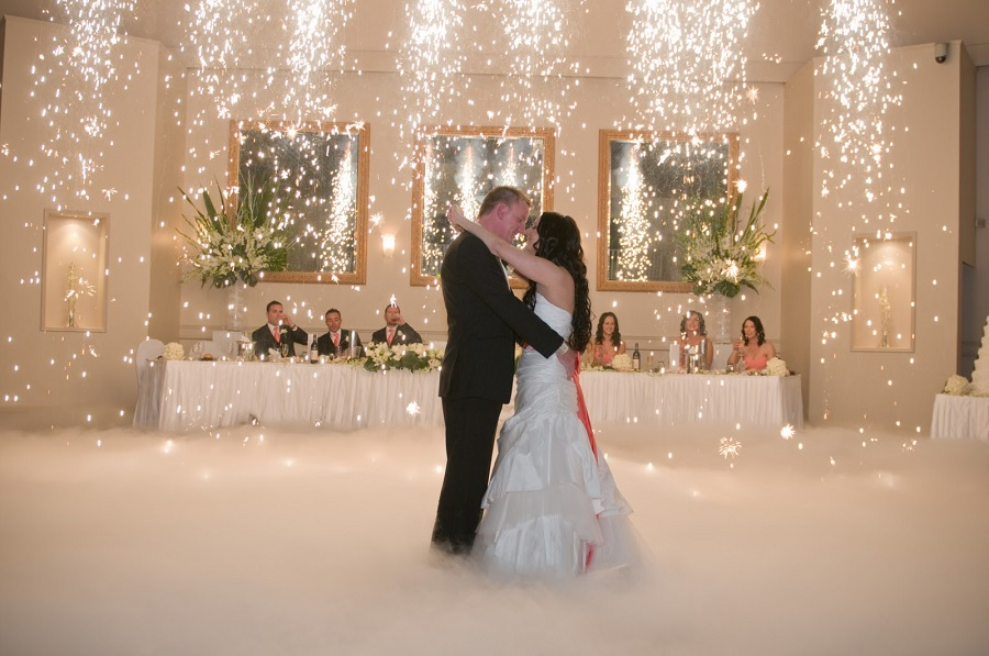 toronto wedding dry ice effect
