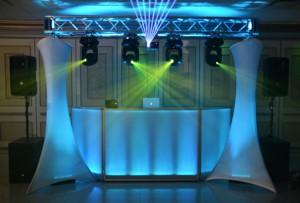 DJ Booth with lighting