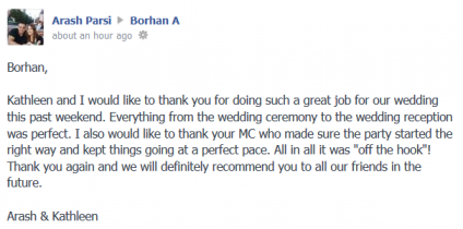 Arash + Kathleen – Wedding DJ Testimonial