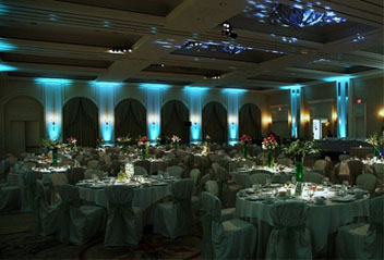 toronto wedding decor uplighting
