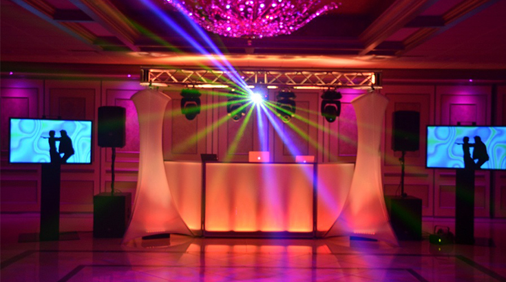 wedding djs and mc with led booth