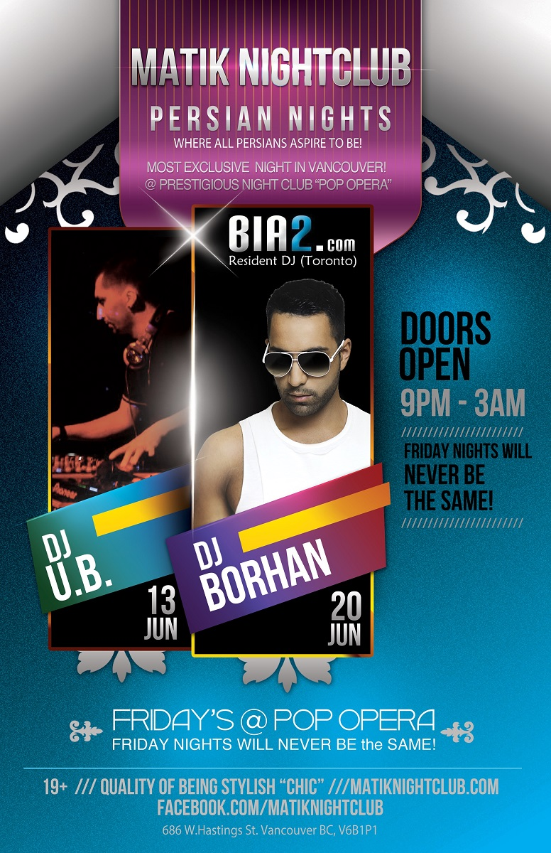 persian party in vancouver with DJ Borhan